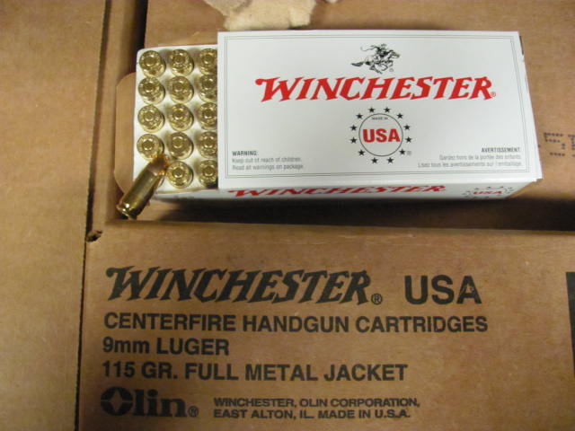 500 Winchester 9mm 500 Round Case 9mm Luger Fmj