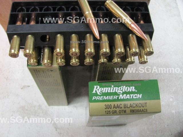 200 Round Case - 300 AAC Blackout 125 Grain OTM Remington Premier Match Ammo - RM300AAC6