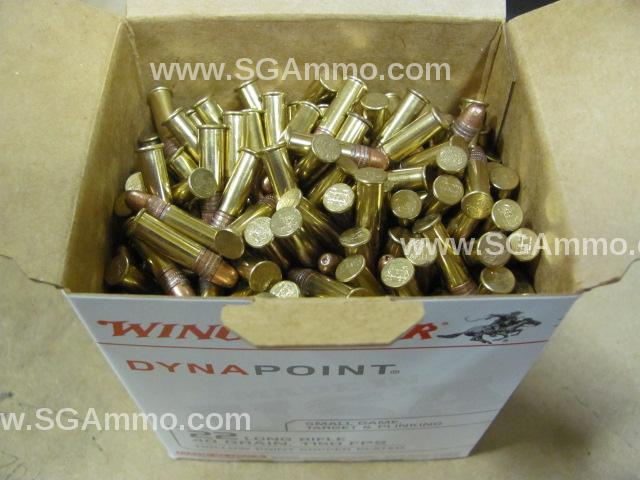 5000 Round Case - 22 LR Winchester Dynapoint 40 grain Copper Plated Hollow Point Ammo - WD22LRB