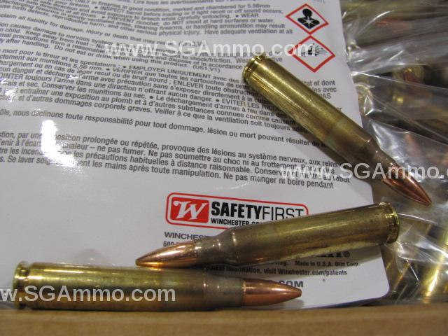 1000 Round Case - 5.56mm 55 Grain FMJ Ammo Loose Pack Made by Lake City for Winchester - USA556LK - limit 1