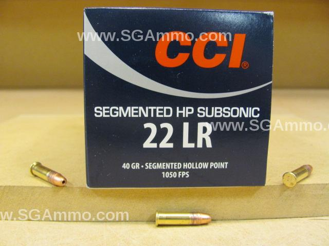 5000 Round Case - CCI 22 LR Segmented HP Hollow Point Subsonic 40 Grain Ammo - Load Number 74