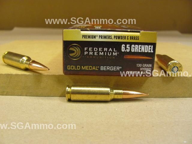 200 Round Case - 6.5 Grendel 130 Grain Open Tip Match Federal Gold Medal Berger Ammo - GM65GDLBH130