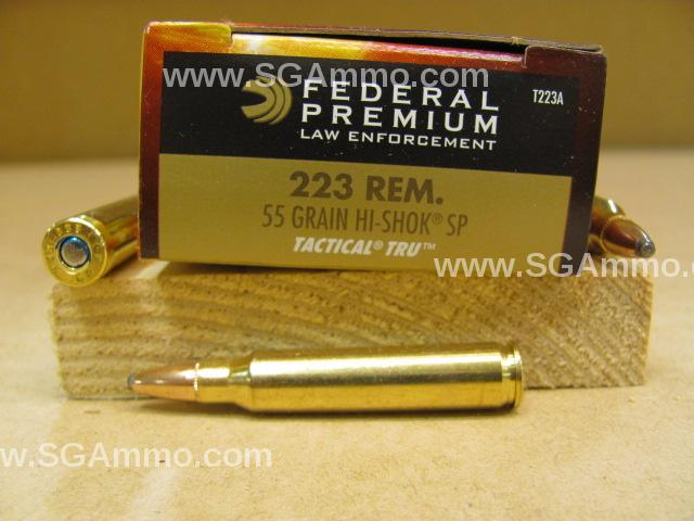 500 Round Case - 223 Rem 55 Grain Soft Point Ammo - Federal Tactical T223A