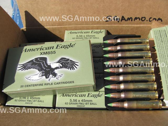 500 Round Case - 5.56 mm M855 Federal Lake City Green Tip Ammo - XM855FL - Limit 1