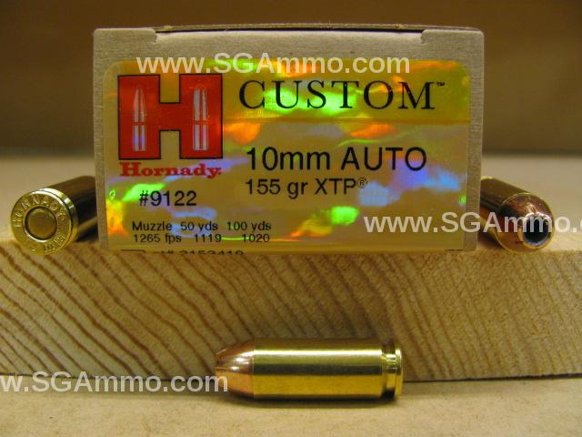 200 Round Case - 10mm Auto Hornady 155 Grain XTP Hollow Point Ammo - 9122